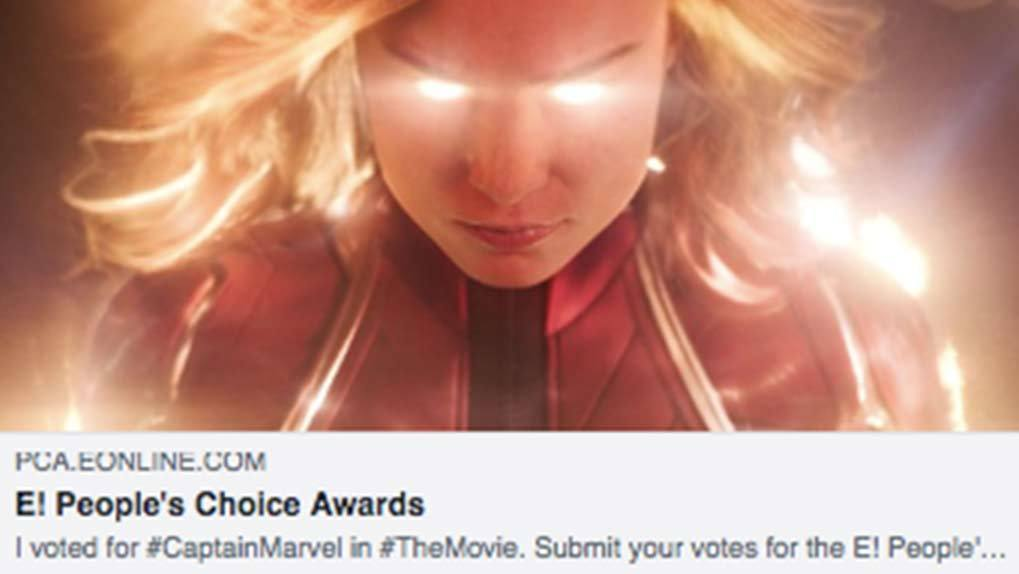 share with Brie Larson from the avengers movies as the contestant voted for