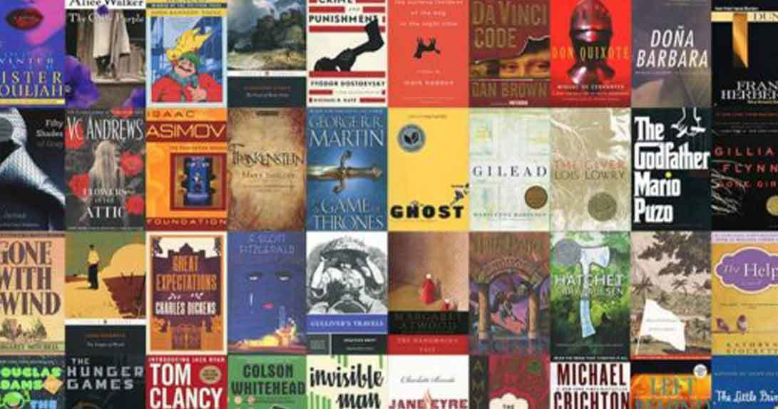 covers of many books up for vote