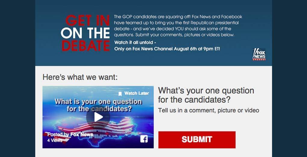 Fox News 2016 GOP Debate Uploader