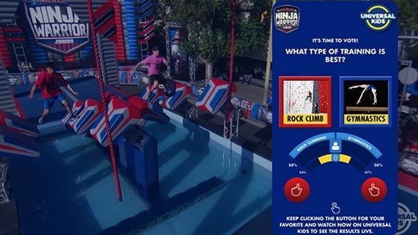 American Ninja warrior Junior passion meter