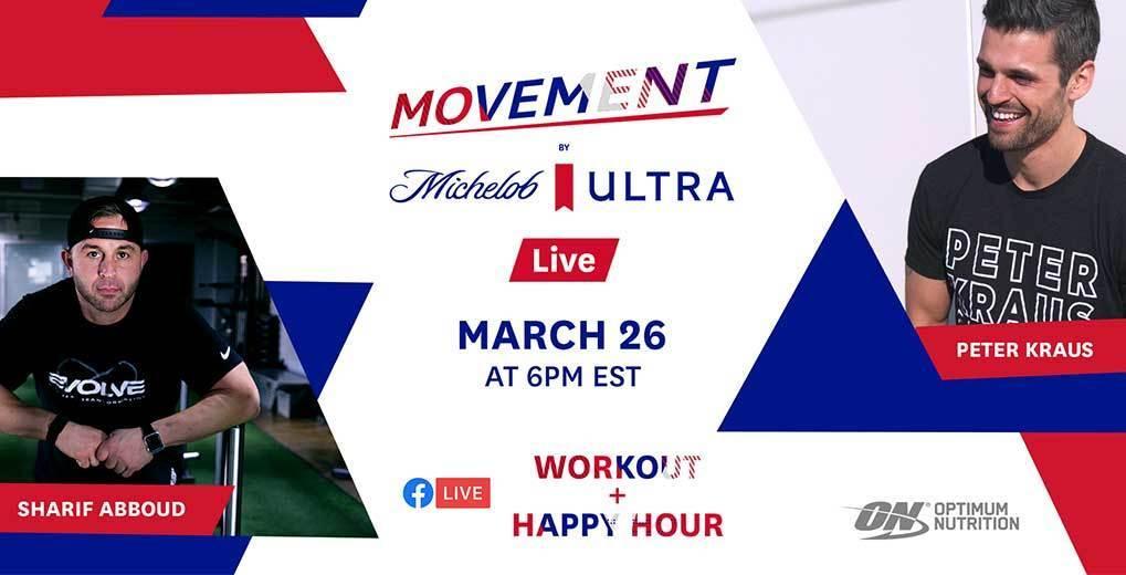Promo image for Michelob Ultra livestream