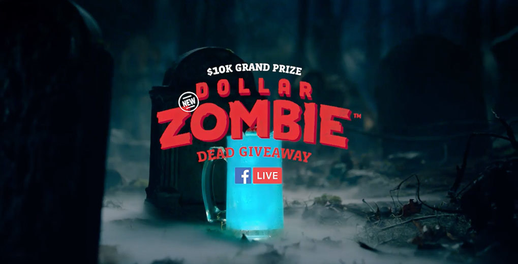 Facebook Live Dollar Zombie Giveaway Poster