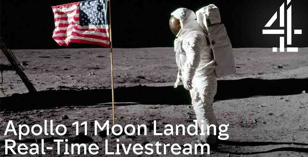 Apollo 11 Moon Landing Real-Time LIvestream for Channel 4