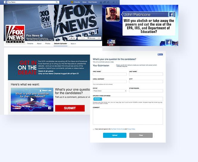 Fox News Debate Uploader in Facebook Tab