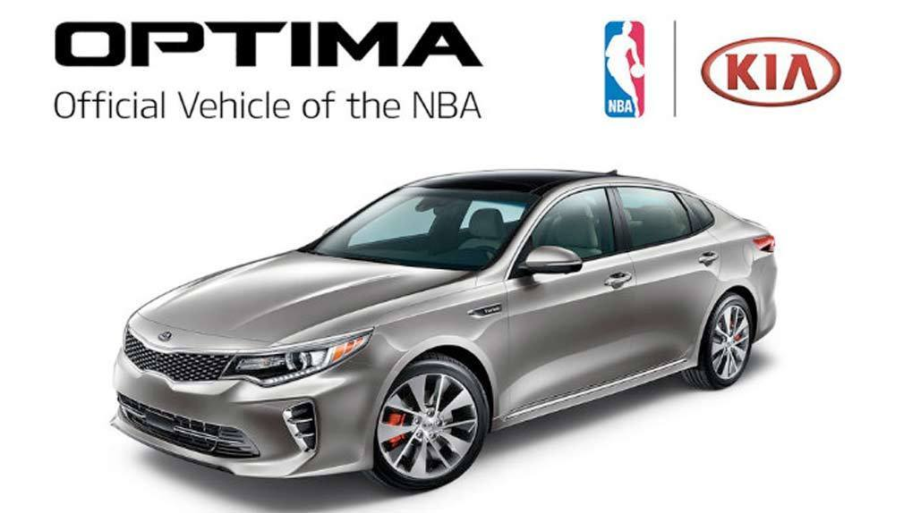 image of KIA Optima the official car of the NBA