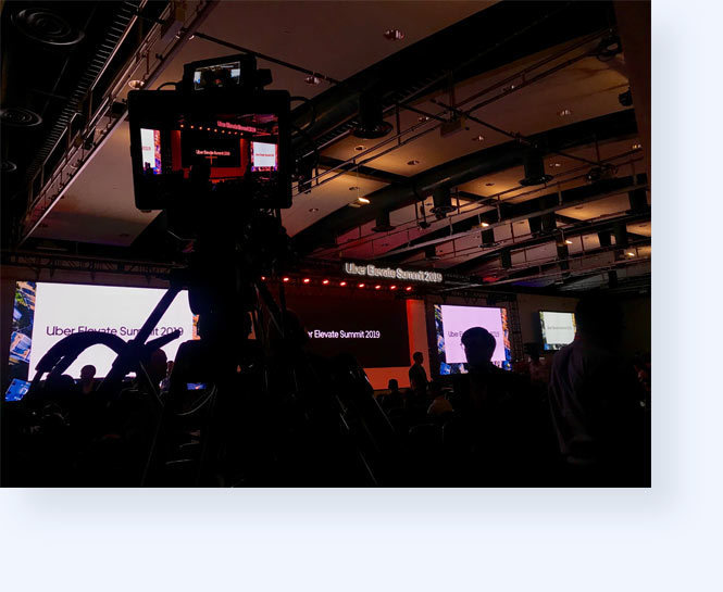 Shot of the camera capturing the Uber Elevate Summit 2019