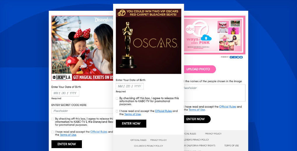 Sweepstakes for Disney, the Oscars and Ways to wear pink sweepstakes