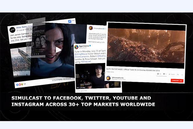 Live stream of Alita trailer on different platforms - YouTube, Facebook, Twitter, Instagram