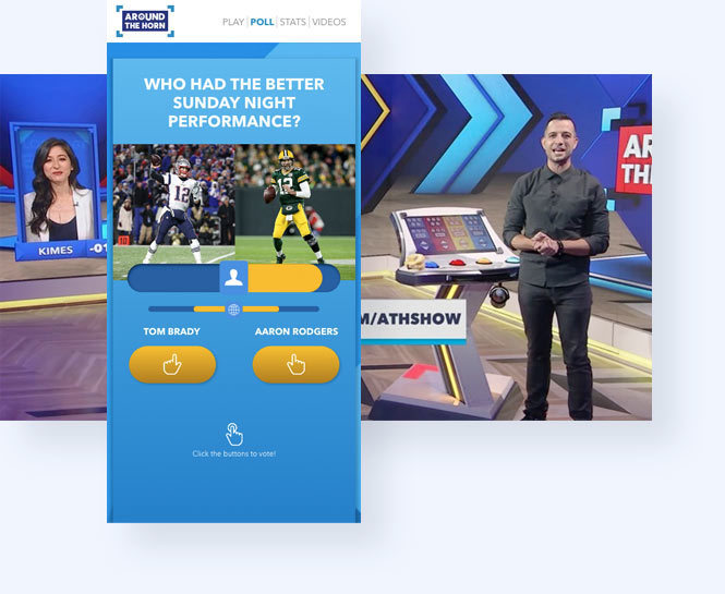 ESPN's around the horn passion meter featuring tom brady and aaron rodgers