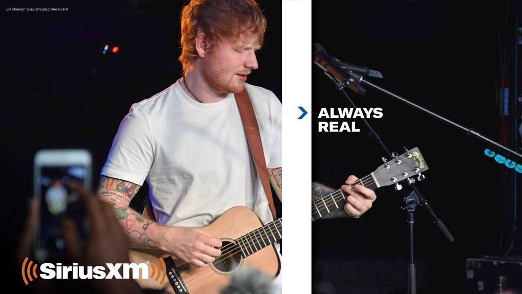 Ed Sheeran in Xm promo