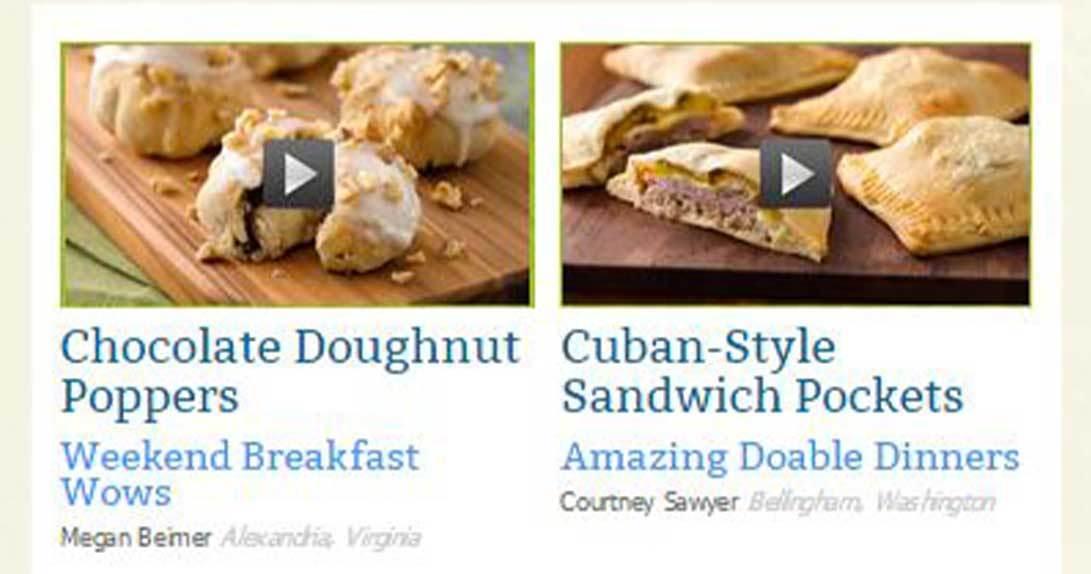 Pillsbury Bakeoff online vote page
