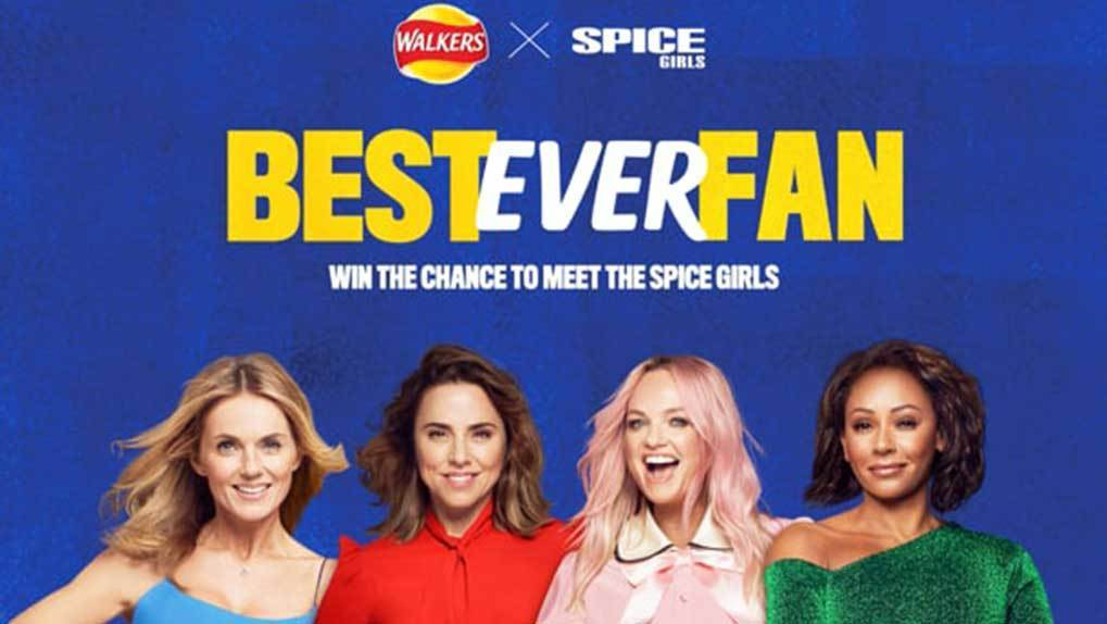 #BestEverFan promo image with The Spice Girls