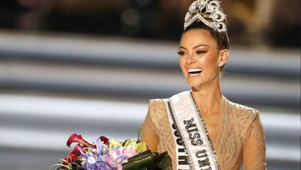 Image of Miss South Africa after she won Miss Universe