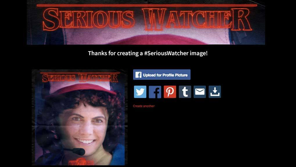 Share serious watcher image page