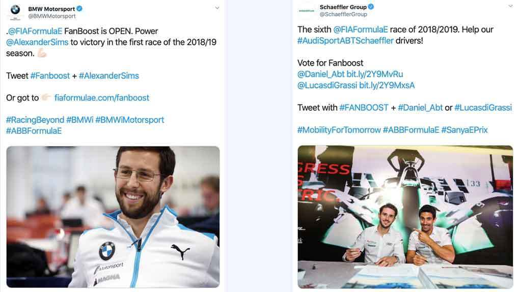 Twitter votes for drivers