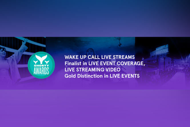 Shorty Awards Gold Medal for Live Events and Finalist Medal for Live Event Coverage and Live Streaming Video