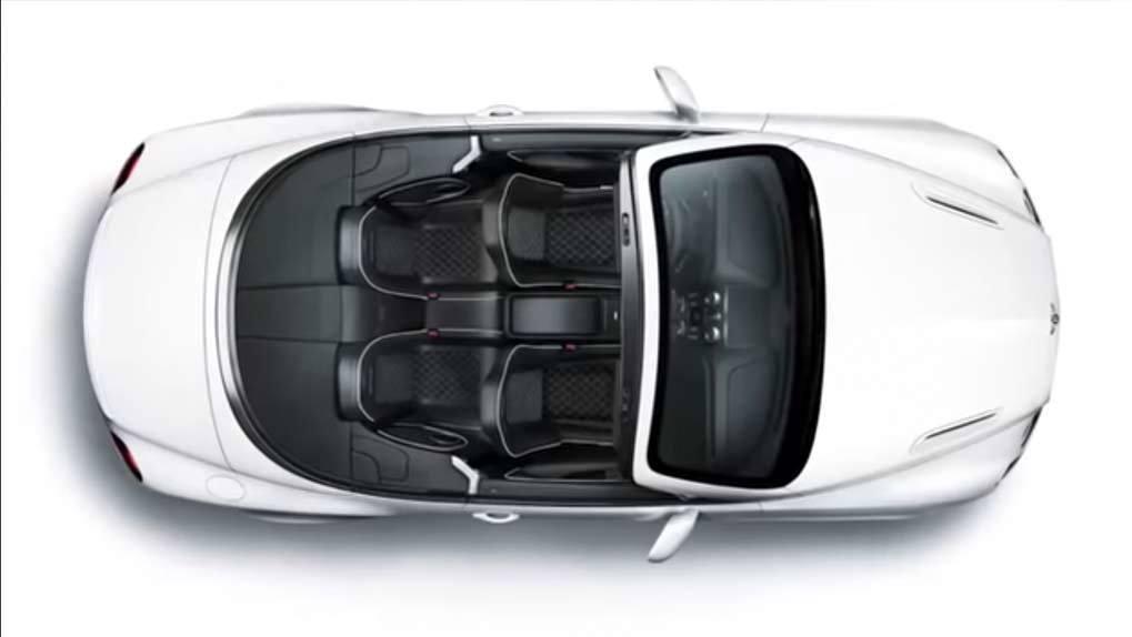 Bird's eye view of Bentley convertible