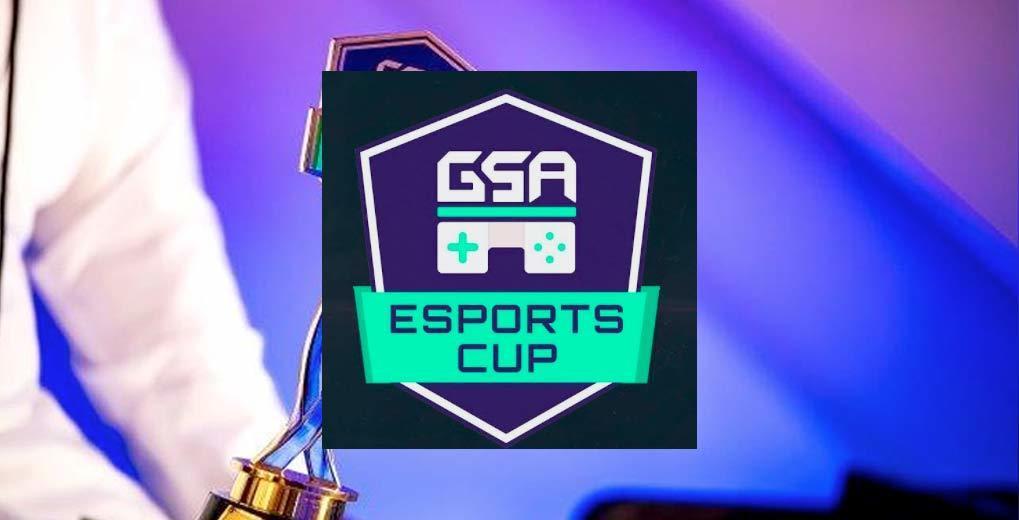 GSA eSports Cup logo over image of arm holding award