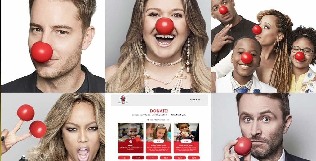 Red Nose Day - celebrities wearing red noses
