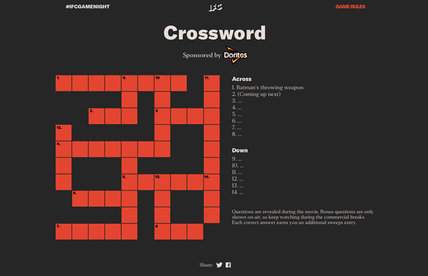 IFC Game Night Crossword puzzle