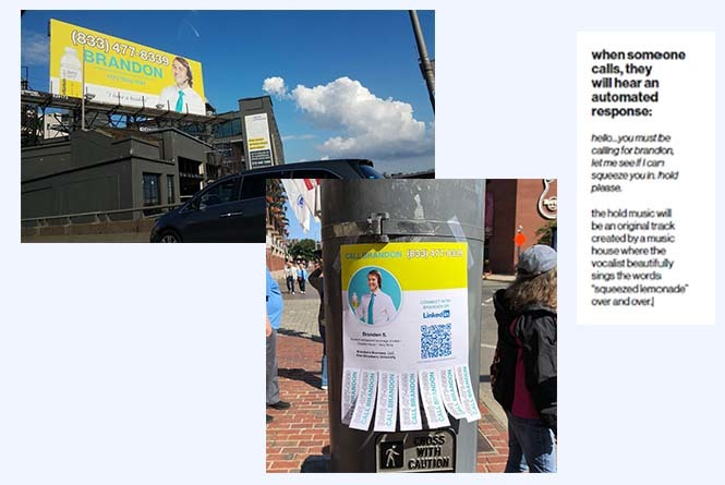 Billboard and flier ads and call to action